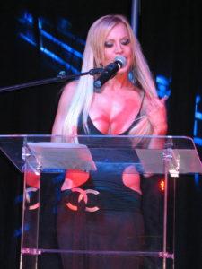 Amber presenting