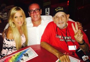 Amber Lynn Here w/ friends at @Rainbowlive last night I love this picture of of Hal Stone- ive known him along time